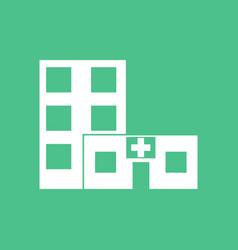 icon hospital building vector image