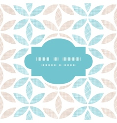 Abstract textile leaves stripes frame seamless vector