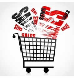 sales trolley vector image