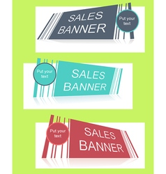 Sale banner with text field vector