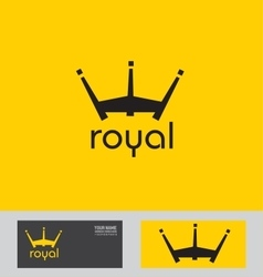 Royal crown logo vector