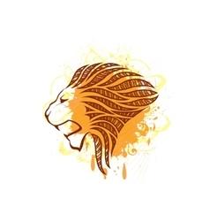 Lion head silhouette vector image