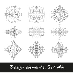 Round design element circle pattern in black vector
