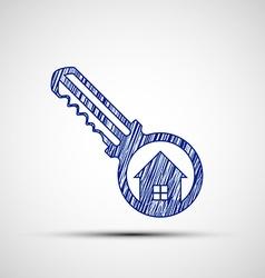 Logo key from the door vector