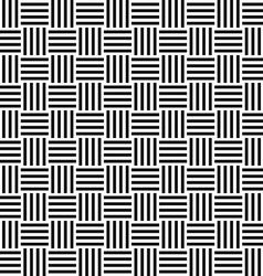 Seamless black white stripe pattern vector