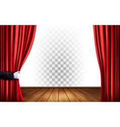 Theater curtains with a transparent background vector