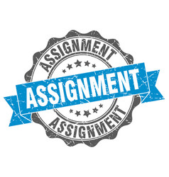 Assignment stamp sign seal vector