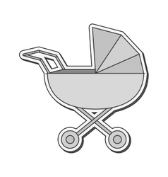 Baby Stroller icon vector image