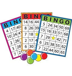 bingo cards vector image