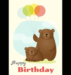 Birthday and invitation card animal background vector image vector image