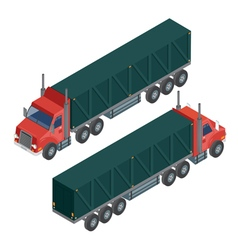 Cargo Transportation Isometric Truck Delivery vector image vector image