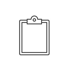 Clipboard line icon vector