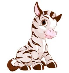 Cute Zebra vector image vector image
