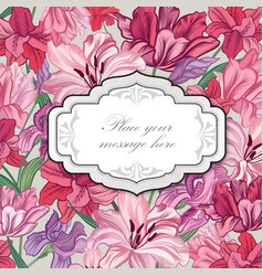 floral background flower bouquet cover flourish vector image vector image