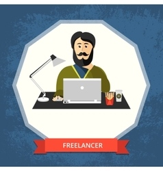 Freelancer vector image