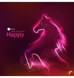 Horse glowing dark background vector