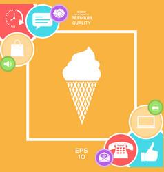 ice cream symbol icon vector image