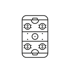 Ice Hockey Rink icon Game symbol Flat vector image vector image