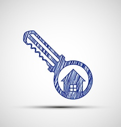Logo key from the door vector