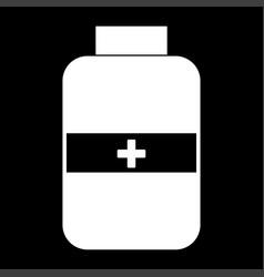 medicine bottle the white color icon vector image vector image