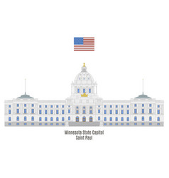 minnesota state capitol vector image