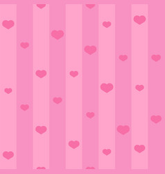 pink seamless heart pattern background with vector image vector image