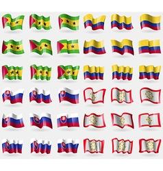 Sao tome and principe colombia slovakia sikkim set vector