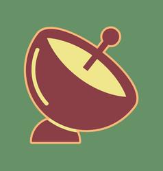 satellite dish sign cordovan icon and vector image