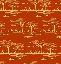 Savannah pattern vector