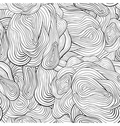 seamless curve pattern Black and white background vector image vector image