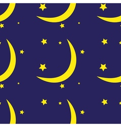 Seamless pattern of the moon and stars vector image vector image