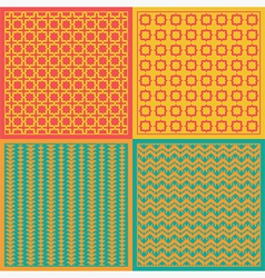 Seamless patterns Net vector image vector image