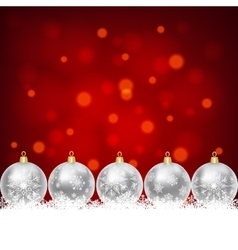 silver balls with snowflakes ornament vector image vector image