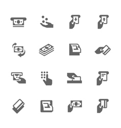 Simple ATM Icons vector image