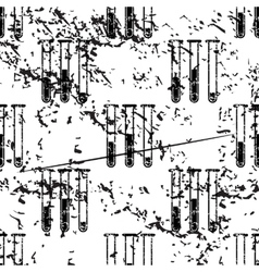 Test-tubes pattern grunge monochrome vector