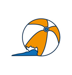 Toy balloon icon vector