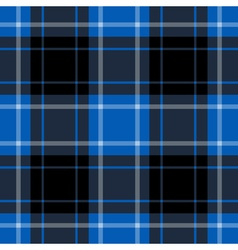 Seamless blue tartan - black and white stripes vector