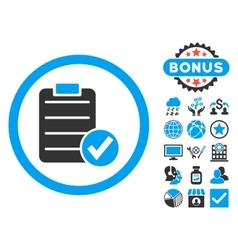 Apply form flat icon with bonus vector