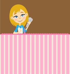 Girl icing template vector