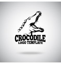 Crocodile logo template for sport teams vector