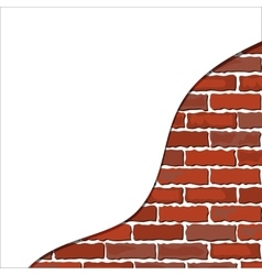 Brick wall plaster vector