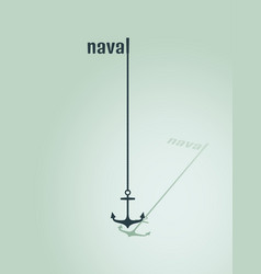 nautical anchor silhouettes vector image