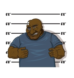 Afro-American prisoner vector image