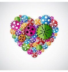 Heart of gears vector image