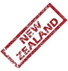 New zealand red rubber stamp vector