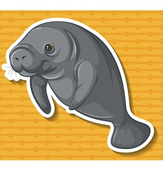 Sea cow vector image
