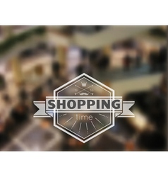 Shopping time hipster blur background vector