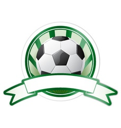 soccer emblem vector image