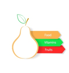 Pear on a white background infographics natural vector