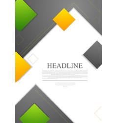 Minimal tech geometric flyer design vector image